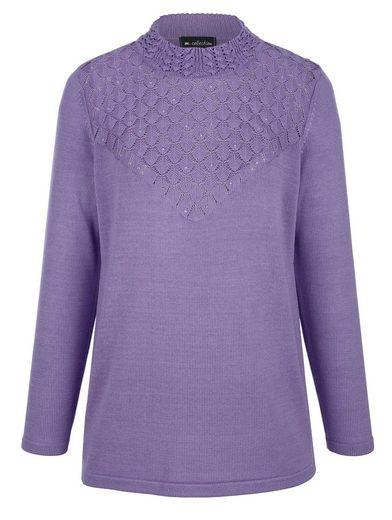 m. collection Pullover mit Stehbundkragen