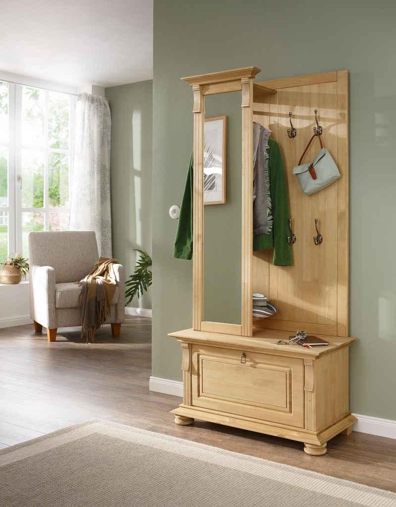 Home affaire Garderoben-Set »Mitu«, (Set, 2-St), aus massiver Kiefer (2-tlg)