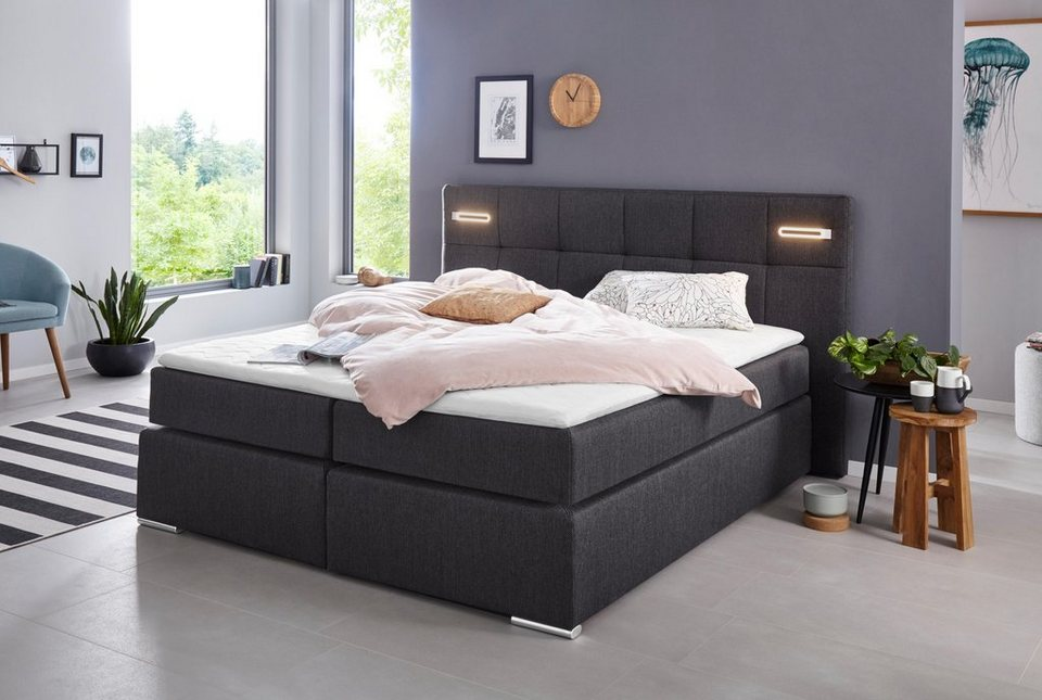 Collection Ab Boxspringbett Dormante Inkl Led Beleuchtung Topper Und Kissen Online Kaufen Otto