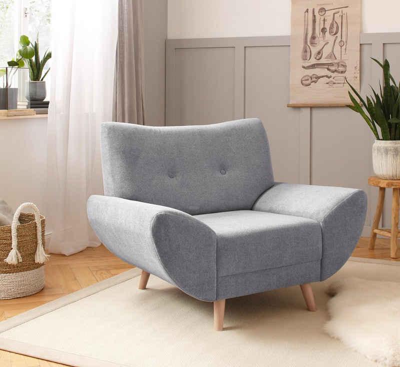 Home affaire Polstergarnitur »Naas«, (3-tlg), Komfortable Wellenunterfederung