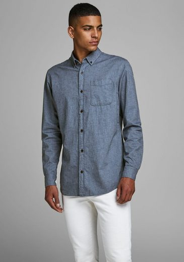 Jack & Jones Langarmhemd »MELANGE SHIRT«