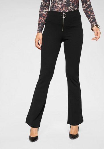 Melrose Stretch-Hose mit stylishem Zipper