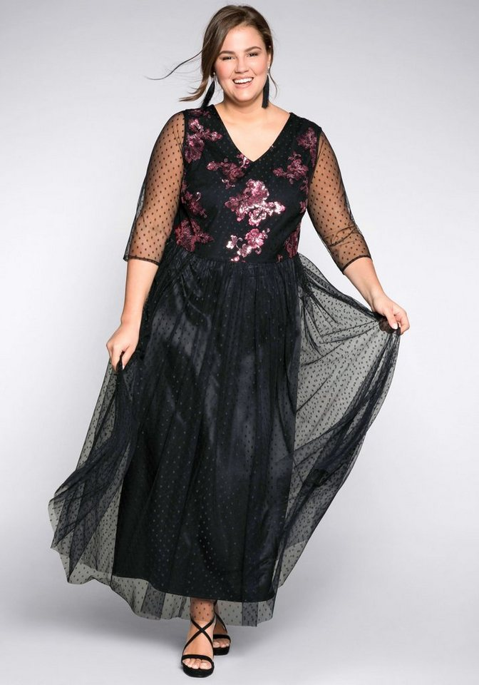 Festtagsmode - Sheego Abendkleid in A Linie ›  - Onlineshop OTTO