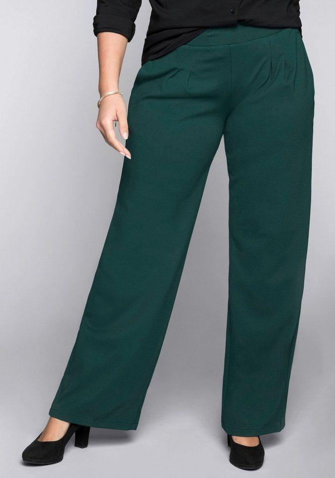 Sheego Bundfaltenhose »Die Weite« | Bekleidung > Hosen > Bundfaltenhosen | Grün | Sheego