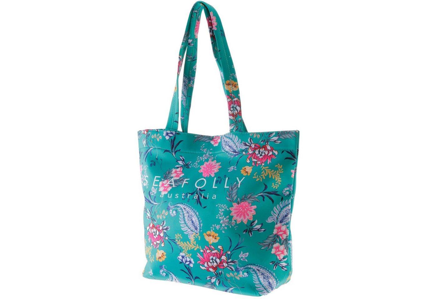 Damen Seafolly Strandtasche »Water Garden« grün   09349623651017