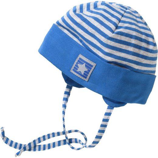 Sterntaler® Baby Topfmütze zum Binden mit UV-Schutz 30+ für Jungen
