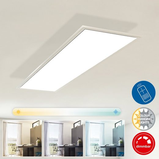 Briloner Leuchten LED Panel »Kilian«, 1-flammig, Deckenleuchte dimmbar, Farbtemperatursteuerung
