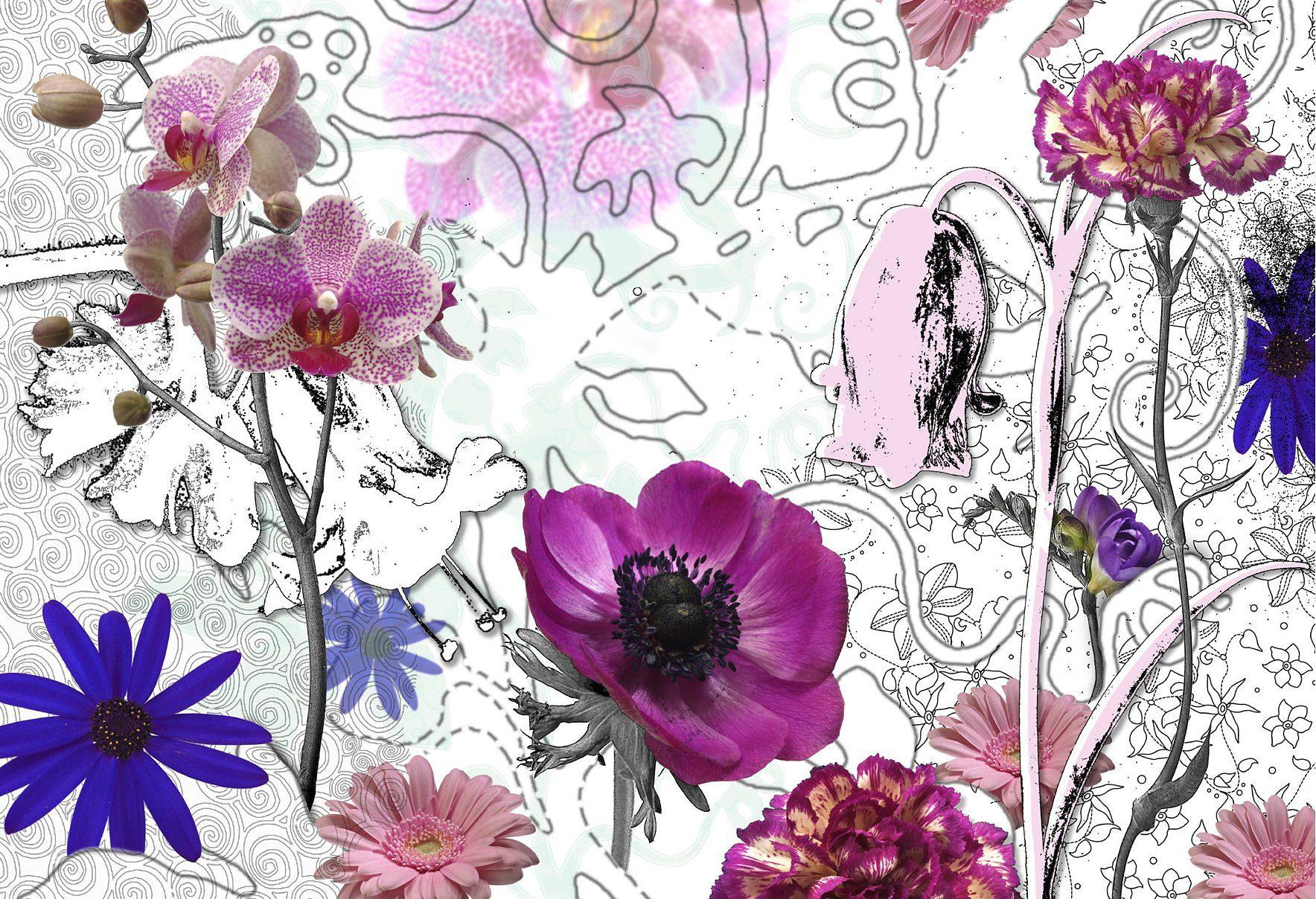 Fototapete, Komar, »Purple«, 368/254 cm