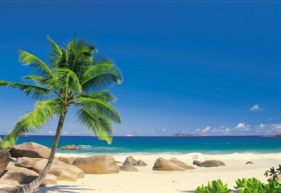 """Fototapete, Komar, """"Seychellen"""", 270/194 cm in blau"""