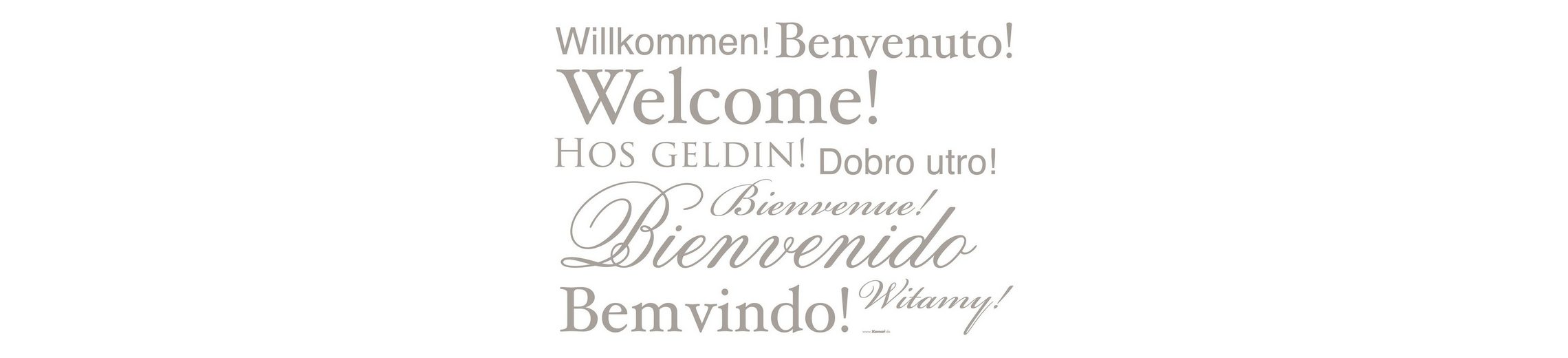 "Wandsticker, Komar, ""Welcome"", 11-teilig"