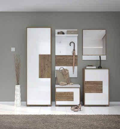 Places of Style Schuhbank »Stela«, hochwertig UV lackiert, mit Sitzkissen