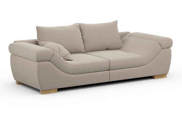 Sofas - Home affaire Big Sofa »Marrakesch« in 2 Größen mit Kopfteilverstellung in Rutschen Armlehne  - Onlineshop OTTO
