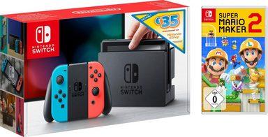 Nintendo Switch (Bundle), inkl. 35€-Guthaben und Mario Maker 2