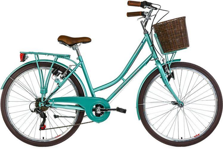 KS Cycling Cityrad »Stowage«, 6 Gang Shimano Tourney Schaltwerk, Kettenschaltung