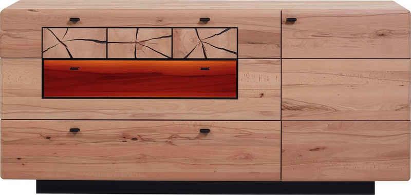 HARTMANN Sideboard »KVIK«, Modell 4181, Breite 182 cm, mit 1 Tür, 2 Schubkästen und 1 Klappe mit Glasausschnitt