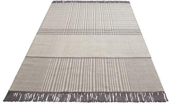 Teppich »Indira«, Leonique, rechteckig, Höhe 12 mm, mit Fransen, Wohnzimmer