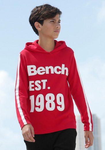 Bench. Kapuzenshirt »Interlockshirt« mit Ärmeldrucken