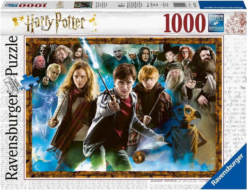 Ravensburger Puzzle »Der Zauberschüler Harry Potter«, 1000 Puzzleteile, Made in Germany, FSC® - schützt Wald - weltweit
