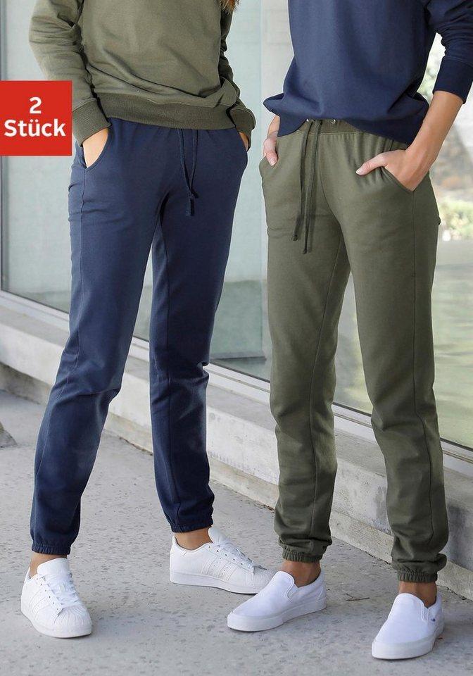 vivance active Relaxhose (2er-Pack) mit aufgesetzten Taschen   Bekleidung > Homewear > Relaxhosen   Bunt   vivance active