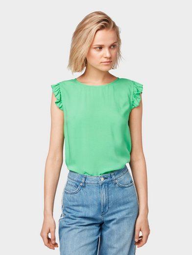 TOM TAILOR Denim Shirtbluse »Bluse mit Rüschen«