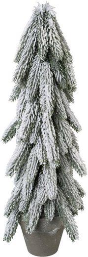 Kunstbaum »Tanne im Topf«, Höhe 50 cm, mit dekorativem Schnee
