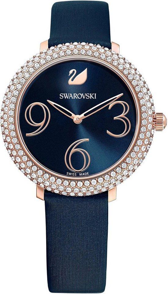 Damen Swarovski Schweizer Uhr »CRYSTAL FROST, 5484061« blau | 09009654840612