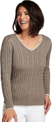 Casual Looks Pullover mit V-Ausschnitt