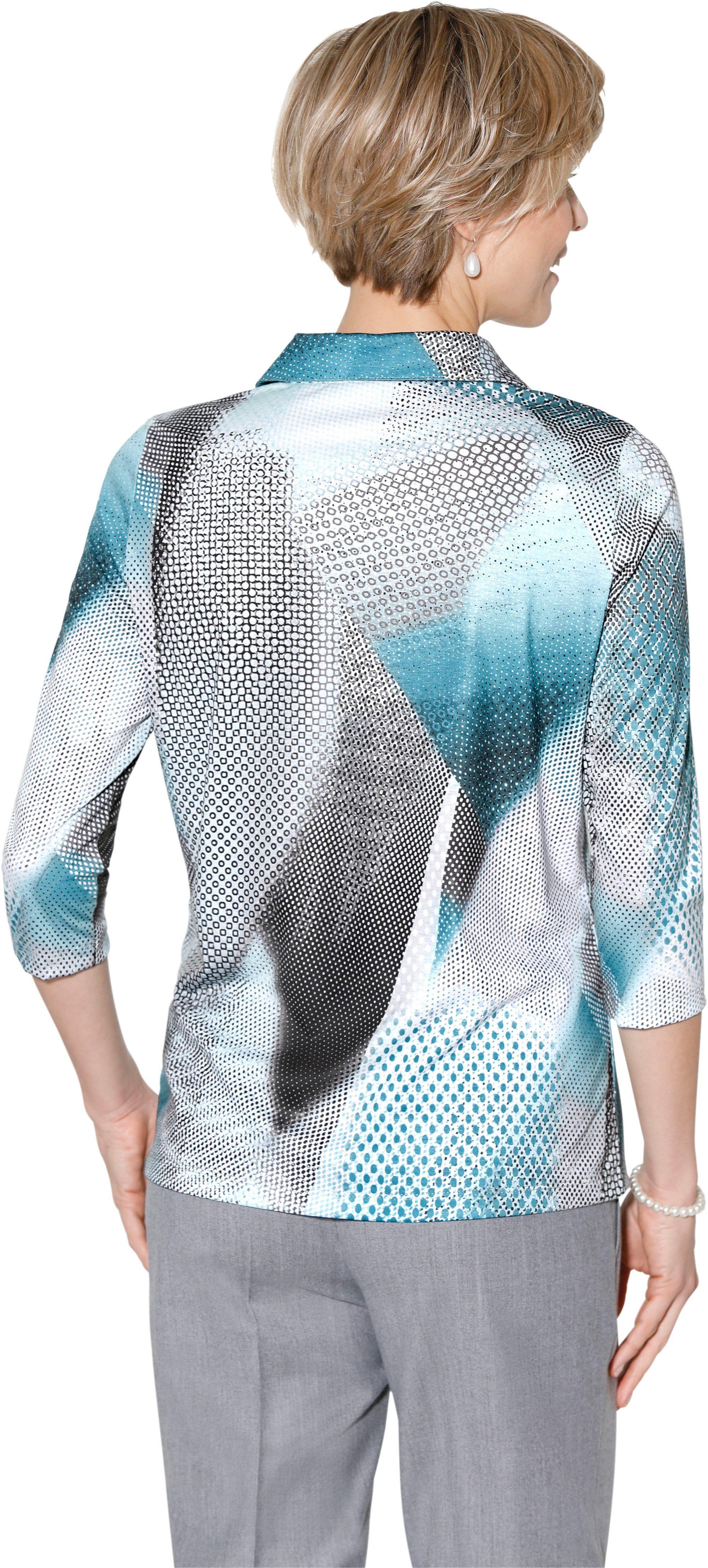 Grafisch Bedrucktem Mit Muster Classic Poloshirt BWCoexrd