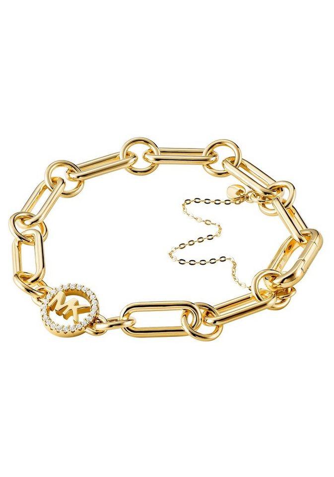 MICHAEL KORS Charm-Armband »CHARMS, MKC1239AN710« mit Zirkonia | Schmuck > Armbänder > Charm-Armbänder | Goldfarben | MICHAEL KORS
