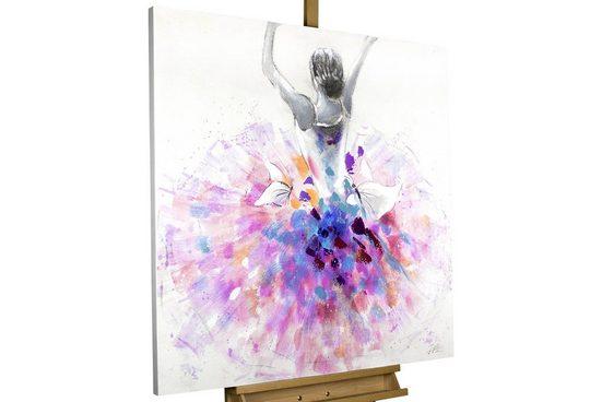 KUNSTLOFT Gemälde »Primaballerina«, handgemaltes Bild auf Leinwand