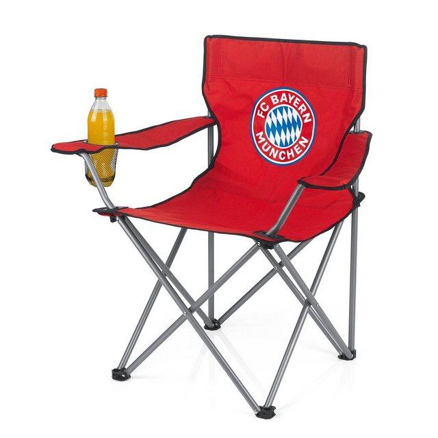 FC BAYERN MÜNCHEN Campingstuhl,Faltbar 80x50cm,rot mit Logo   Baumarkt > Camping und Zubehör > Campingmöbel   OTTO