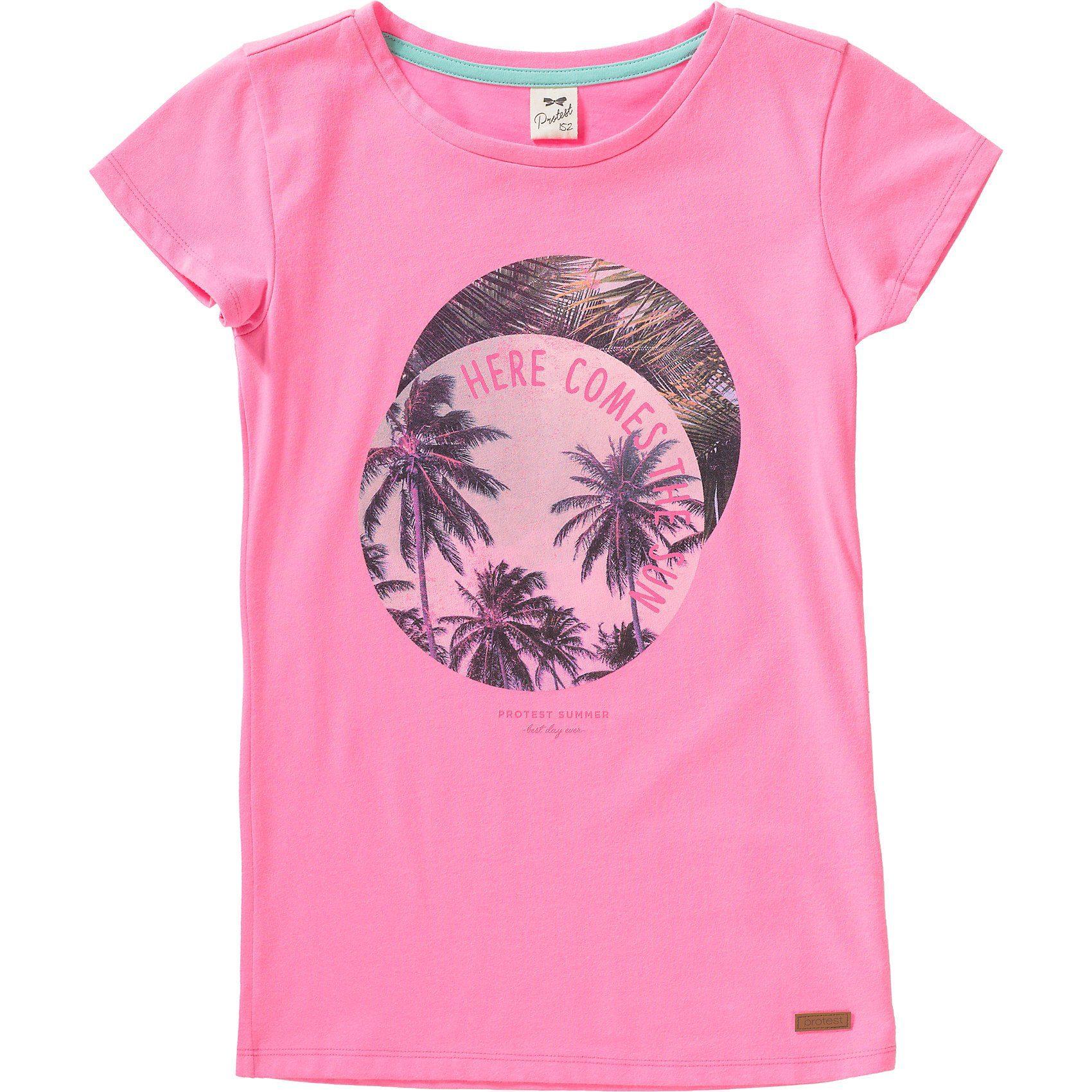 Damen,  Mädchen,  Kinder Protest T-Shirt APPLE für Mädchen rosa   08718025774753