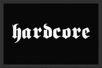 Fußmatte »Hardcore Türmatte 60x40 cm«, Mr. Ghorbani, Rechteckig, Höhe 3 mm