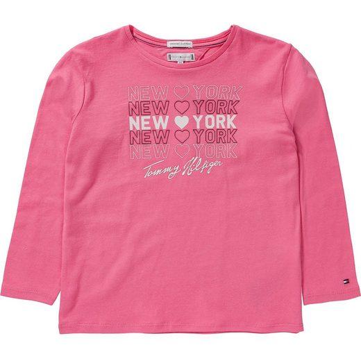 TOMMY HILFIGER Langarmshirt für Mädchen, Organic Cotton