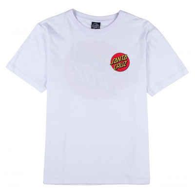 Santa Cruz T-Shirt »Classic Dot - white« Front- & Backprint