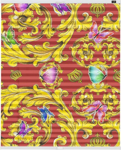 Plissee »Klemmfix Motiv Papillon«, POMPÖÖS by Lichtblick, blickdicht, ohne Bohren, Faltenstore