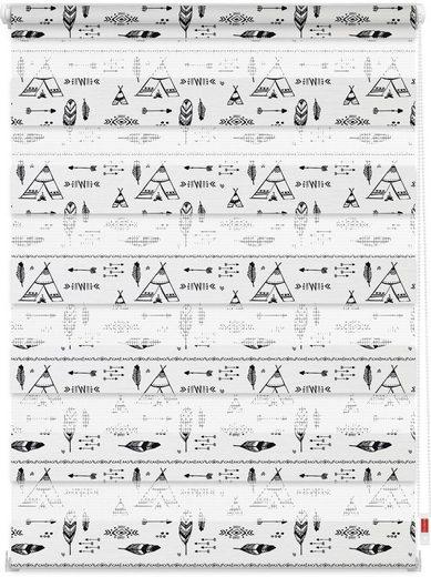 Doppelrollo »Duo Rollo Motiv Tipi«, LICHTBLICK, Lichtschutz, ohne Bohren, freihängend, bedruckt