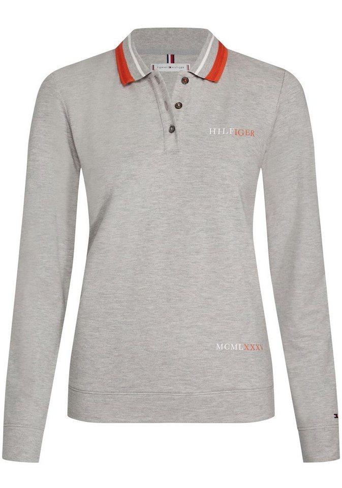 sale retailer 6c935 94a6c TOMMY HILFIGER Langarm-Poloshirt mit Tommy-Streifen an Kragen und  Ausschnitt innen online kaufen | OTTO