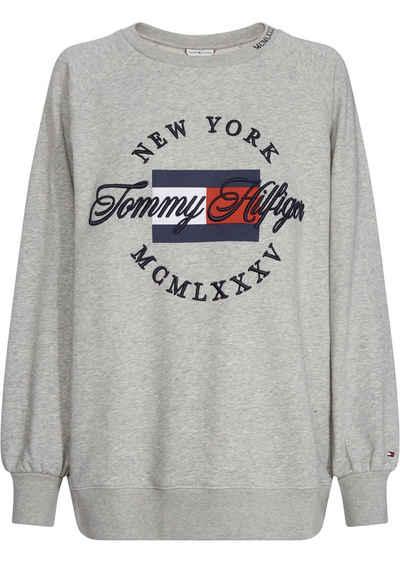 TOMMY HILFIGER Sweatshirt mit coolem Frontprint und Stickerei