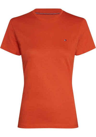 Tommy Hilfiger T Shirt mit floralem Muster Hellblau, Damen