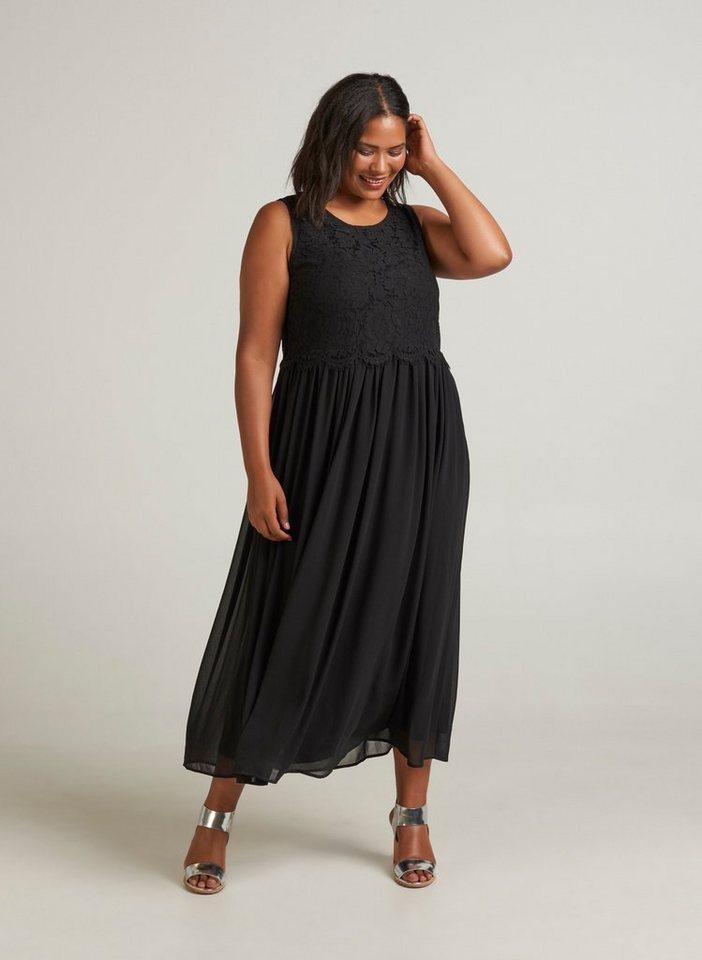 zizzi abendkleid damen gro e gr en kleid blumen spitze. Black Bedroom Furniture Sets. Home Design Ideas