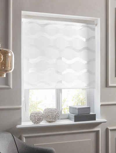 Doppelrollo »Wellen«, Guido Maria Kretschmer Home&Living, Lichtschutz, ohne Bohren, freihängend, democratichome Edition
