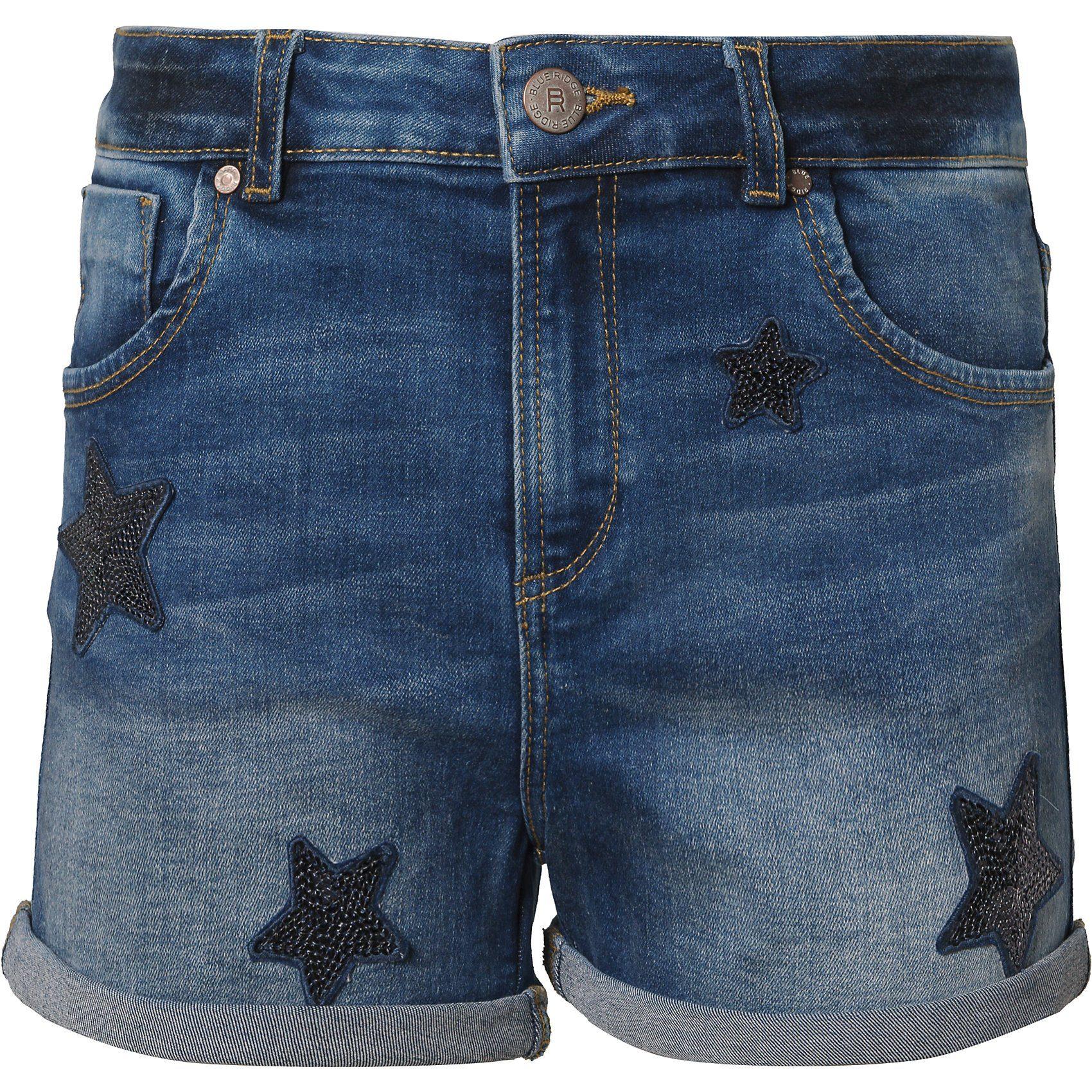 Damen,  Mädchen,  Kinder WE Fashion Jeansshorts PEGGY für Mädchen blau, gelb, rosa, schwarz   08719508444040
