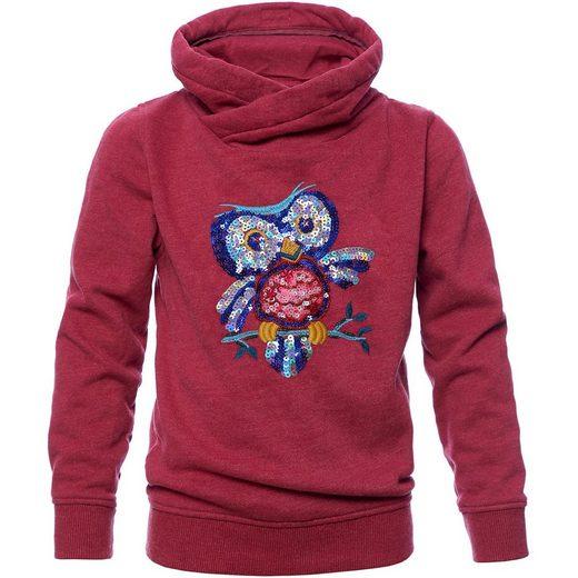 REVIEW for Kids Sweatshirt mit Schalkragen und Pailletten für Mädchen