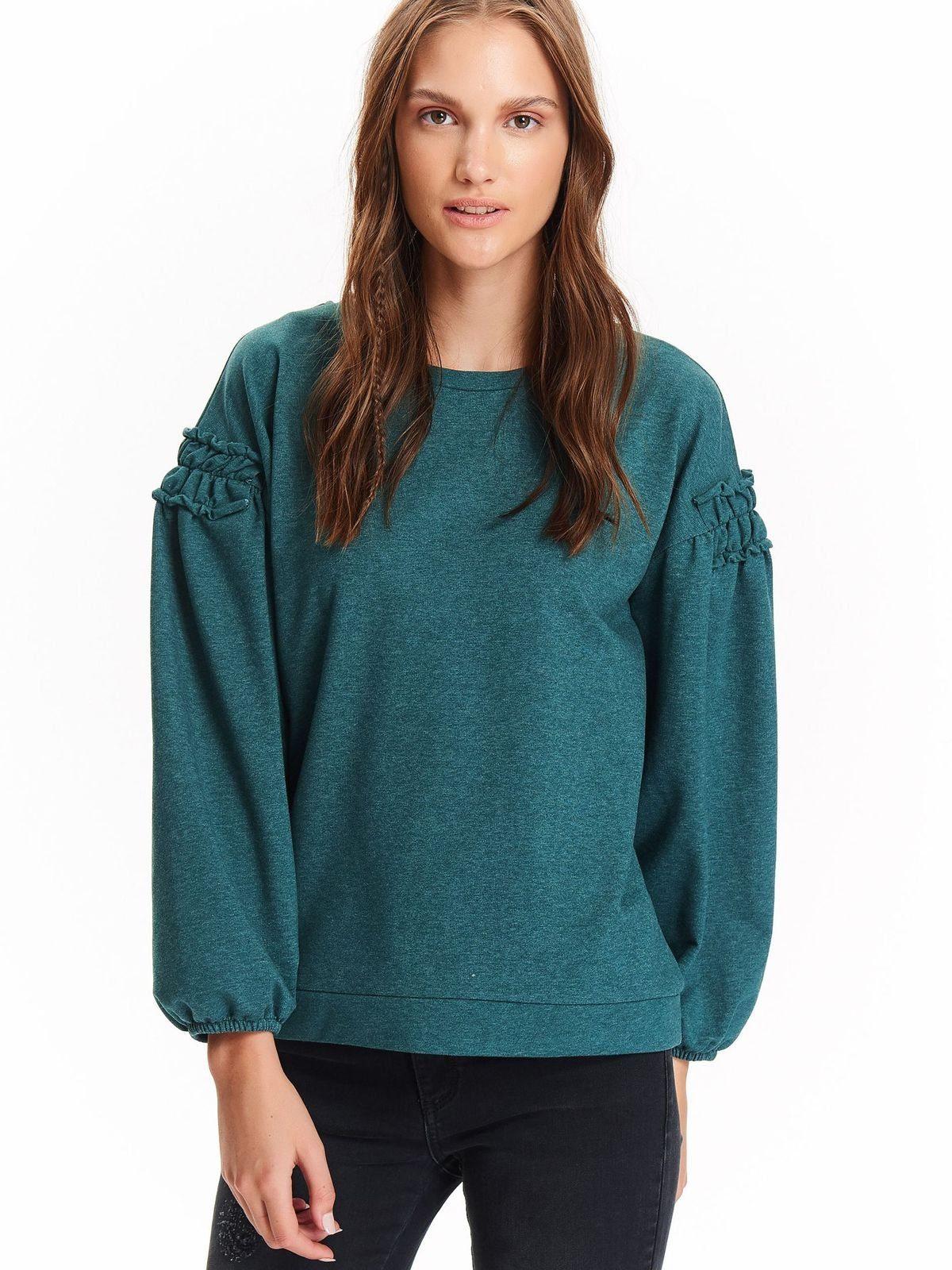 Damen TOP SECRET Pullover im modernen Design grün | 05900018025741