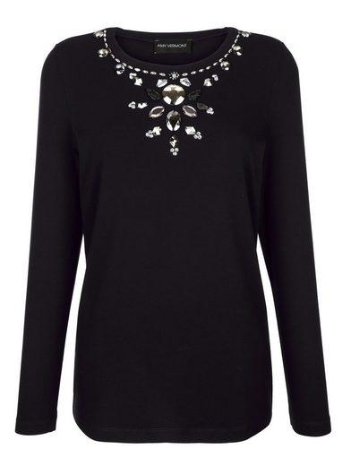 Amy Vermont Shirt mit Perlen- und Strasssteindekoration