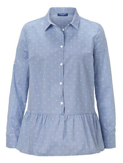 Conleys Blue Bluse mit Volantsaum