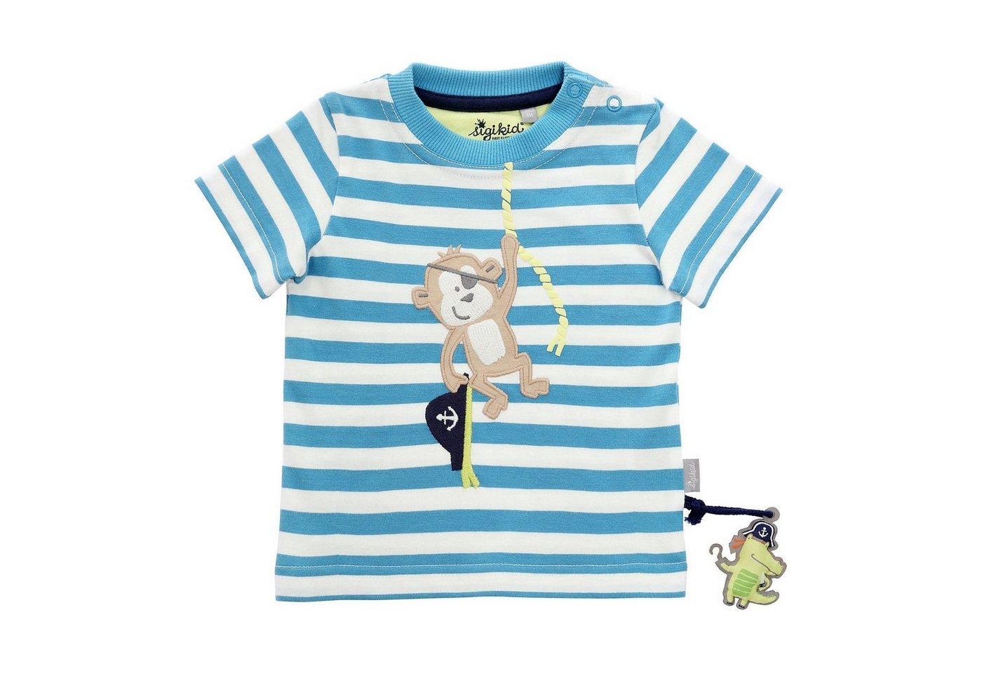 Baby,  Kinder,  Jungen,  Kinder,  Unisex Sigikid Baby T-Shirt für Jungen blau, gelb, grau, weiß | 04045646129926