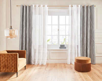 Vorhang »Prag«, Guido Maria Kretschmer Home&Living, Ösen (1 Stück), Foliendruck, democratichome Edition