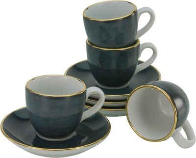 Guido Maria Kretschmer Home&Living Espressotasse »Glamour«, Porzellan, (4 Tassen, 4 Untertassen), handgemalt, democratichome Edition
